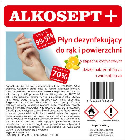 płyn do dezynfekcji Alkosept - cytryna