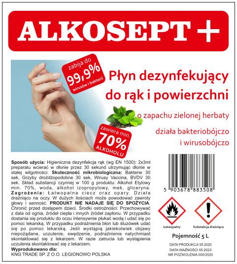 Alkosept green tea disinfectant