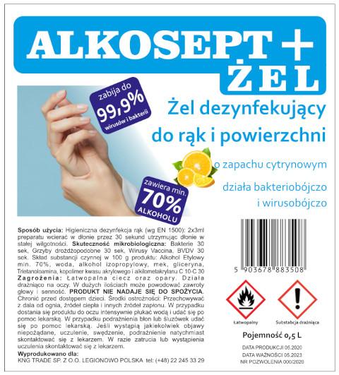Alkosept disinfection gel - lemon