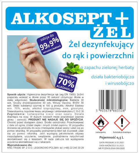 Alkosept disinfection gel - green tea